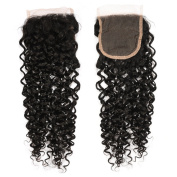 FASHION QUEEN HAIR 4x 4 Free Part Lace Closure Brazilian Water Wave Bundles Bundles Virgin Human Hair Lace Closure 130% Density