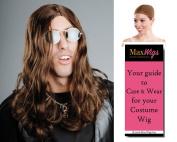 Ozzy Osbourne Ozzi Colour Brown - Enigma Wigs Men's Rocker Black Sabbath Heavy Metal Bundle with Wig Cap, MaxWigs Costume Wig Care Guide