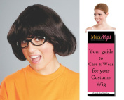 Target Lady Velma Scooby Doo Colour Dark Brown - Enigma Wigs Women's Kristen Wiig Dinkley Scooby Doo Bundle with Wig Cap, MaxWigs Costume Wig Care Guide