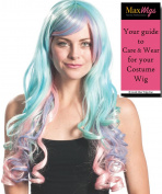 Princess Celestial Wig ONLY Colour Mixed Pastels - Enigma Wigs My Little Pony Celesti Friendship Brony Bundle with Wig Cap, MaxWigs Costume Wig Care Guide