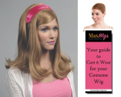 Dafne Scooby Doo Colour Strawberry Blonde - Enigma Wigs Women's Dafne Blake Cartoon Gellar Bundle with Wig Cap, MaxWigs Costume Wig Care Guide