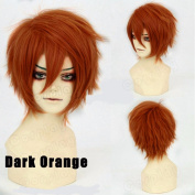S-noilite Short Cosplay Full Wig Women Mens Male Anime Fluffy Straight Synthetic Hair Wig Cool Halloween Party Costume