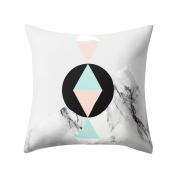 Pu Ran Square Geometric Pattern Throw Pillow Case Home Decor Sofa Waist Cushion Cover - 13#