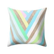 Pu Ran Square Geometric Pattern Throw Pillow Case Home Decor Sofa Waist Cushion Cover - 15#
