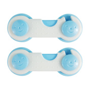 QHGstore Baby Proofing Child Safety Locks 2Pcs Drawer Cupboard Wardrobe Door Safe Lock For Baby Colour Random Family Goods Random Colour