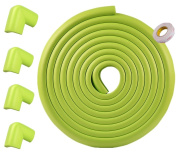Refosian Safe Edge and Corner Cushion -5.4m [5m Edge + 4 Corners] Child Safety Home Safety Furniture Bumper and Table Edge Corner Protector