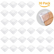 Safety Corner Protectors Guards, HBF 30 PCS-2 Safety Layers Thick-Furniture Corner Guards with Strong Adhesive,WaterProof Edge & Corner Guards