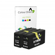 Colour Direct 2 X Black Compatible Ink Cartridges Replacement For HP 711 Designjet T120 , T520 Printers