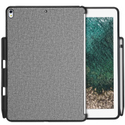 ProCase iPad Pro 10.5 Case, Protective Case Back Cover with Apple Pencil Holder for iPad Pro 27cm 2017, Match for Apple Smart keyboard and Cover -Grey