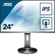 AOC I2490PXQU/BT 60cm Widescreen IPS LED Multimedia Monitor - Gunmetal