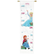 Disney's Frozen 'Sisters Forever' Height Chart Counted Cross Stitch Kit