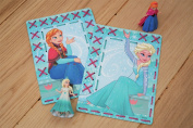 Disney's Frozen Anna and Elsa Printed Cards Embroidery Kit Set of 2