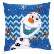 Disney's Frozen 'Olaf' Cross Stitch Cushion Kit