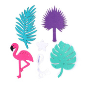 Misright Flamingo Tropical Leaves Cactus Lighting Garland Banner Flag Hanging Ornament Decor