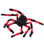 Large Spider Toy Decoration For Halloween by Hello Halloween | Giant halloween spider with Red Eye for Spooky Halloween Fun | 80cm .for Indoors or Outdoors use