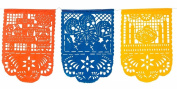 "Day of The Dead X-Large Size Mexican Plastic Papel Picado Banner ""Dia De Los Muertos"" - 14 Plastic Panels / Over 5.2m long - Designs and Colours as Pictured by Paper Full of Wishes"