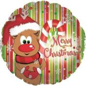 CTI Merry Christmas Reindeer 46cm Foil Balloon