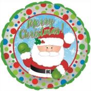 CTI Waving Santa Merry Christmas 46cm Foil Balloon