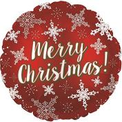 CTI Merry Christmas Snowflakes 46cm Foil Balloon