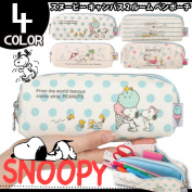 SNOOPY Snoopy 2 room pen case writing brush box pencil case school stationery writing utensils simple pretty stylish junior high student high school student member of society pencil case men gap Dis is unisex
