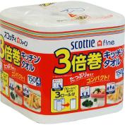 triple winding kitchen towel 150 cut 4 roll