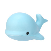 ABCsell 10CM Soft Whale Cartoon Squishy Slow Rising Squeeze Toy Phone Straps Ballchains