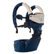Kangarouse HIP SEAT Baby Carrier ,6 Carrying Positions New Style Designer Sling and Regonomic Carrier with Hood and 2 Soft Drool Pads(Navy Blue+Beige) ¡­
