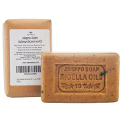 "Olive Black Carraway Black Cumin Oil Soap ""Aleppo"" 65% Oliveoil 25% Laurel Oil, 10% Black cumin Oil, 2x130 g - for skin, hair, body and face natural soap"