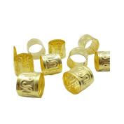 Dreadz Adjustable Large Gold Dreadlock/Braid Hair Cuff Bead (Hole 11mm)