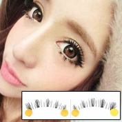 10 Pairs Natural Handmade Fake False Lower Lashes, Transparent Stem Charming Cute Under Eye Lashes Cross Criss Bottom Eyelashes