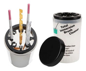 CONTAINER WITH LID HANGING BRUSHES, NAIL RECONSTRUCTION AND NAIL ART UV GEL