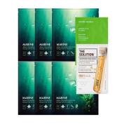 Nature Republic AQUA COLLAGEN Solution MARINE Hydrogel Mask 6pcs Original Korean Facial Mask