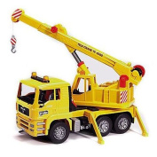 Car minicar blue da BRUDER MAN crane truck 02754 which works