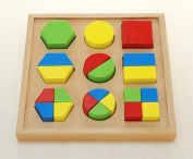 Basic puzzle said wood toy puzzle wooden wood toys educational toys educational toys educational toys how to snap-fit shape alignment 2-year-old toddler