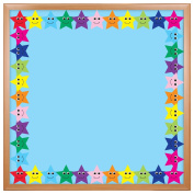 Hygloss Products Happy Multicolor Stars Die-Cut Bulletin Board Border – Classroom Decoration – 7.6cm x 90cm , 12 Pack