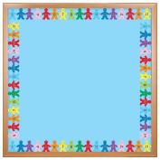Hygloss Products Number Kids Die-Cut Bulletin Board Border – Classroom Decoration – 7.6cm x 90cm , 12 Pack