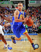 Stephen Curry Golden State Warriors 2013 NBA Action Photo #1 8x10
