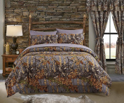 Regal Comfort The Woods Grey Camouflage King 4 Piece Premium Luxury Comforter, Bed Skirt, and 2 Pillow Shams Set - Camo Bedding Set For Hunters Cabin or Rustic Lodge Teens Boys and Girls