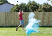 BLUE Gender Reveal Exploding Golf Ball For Announcing Birth of Baby Boy Great Party Idea or Gift Includes Practise Ball
