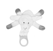 Pacifier Holder Bop Buddie | Lambie Protects Me Plush Toy for Small Hands | Adapter Included