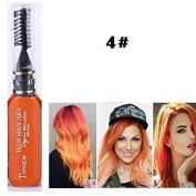 1x Professional Hair Chalk Vibrant Colours Tools Hair Temporary Hair Dye Hair Colour Mascara Orange