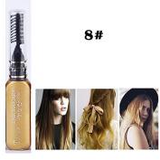 1x Professional Hair Chalk Vibrant Colours Tools Hair Temporary Hair Dye Hair Colour Mascara Gold