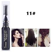 1x Professional Hair Chalk Vibrant Colours Tools Hair Temporary Hair Dye Hair Colour Mascara Black