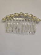 Curved Ivory Pearl and Austrian Crystal Bridal Hair Comb Clip