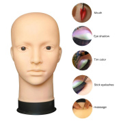Head Model Wig Fuibo Mannequin Flat Head Practise Make Up Massage Training Model Eyelash Extensions