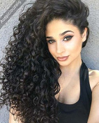 Auspiciouswig Remy Virgin Brazilian Hair Curly Glueless Full Lace Front Human Hair Wigs for Women with Baby Hair
