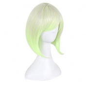 MZP Synthetic Wig for Cosplay Short Straight Bobo Ombre Red/Yellow/Pink/Green Costume Wig Cosplay Wigs , yellow