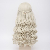 MZP Fashion Long Curly Wig Blonde Colour Synthetic Cosplay African American Wigs , blonde