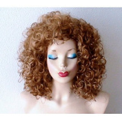 MZP Dirty Blonde Dark Roots Wig Heavy Curly Blonde Wig Celebrity Hairstyle Wig , average