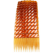GIZZY® Pack 12 Brown 7cm Wide Hair Side combs.